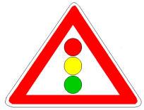 Sinjali në figurë paralajmëron rrugë me një sens lëvizje.