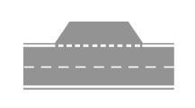 Sinjalistika në figurë tregon një zonë ku është i lejuar qëndrimi i mjeteve.