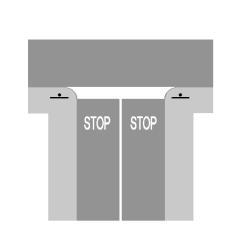 Sinjalistika në figurë lejon të kalojmë kryqëzimin me kujdes, pa ndaluar mjetin.