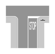Sinjalistika në figurë tregon se jemi para një kryqëzimi, ku është i detyruar ndalimi i mjetit para vijës së ndalimit.