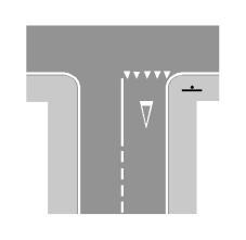 Sinjalistika në figurë tregon që jemi në një karrexhatë me dy korsi me një sens lëvizje.