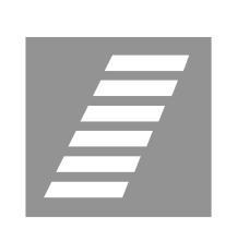Sinjalistika në figurë tregon një kalim të pjerrët për biçikleta.