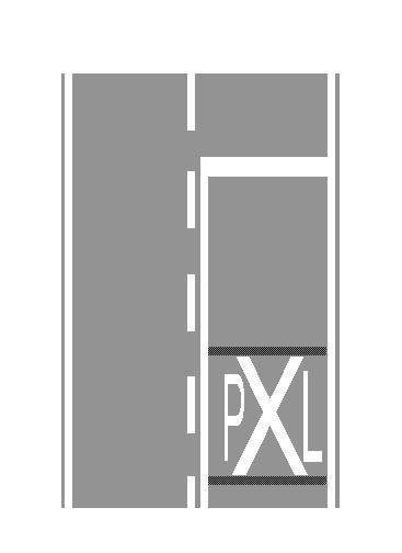 Germat P dhe L, të vizatuara mbi sipërfaqen e karrexhatës së bashku me kryqin e Shën Andreas, tregojnë se po i afrohemi një kalimi në nivel.