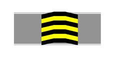 Sinjalistika në figurë është e vendosur mbi sipërfaqen e karrexhatës.