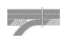 Sinjalistika në figurë lejon parakalimin vetëm në korsinë e shpejtimit.