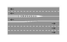 Sinjalistika e paraqitur në figurë ndalon parakalimin në të gjitha rastet.