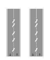 Shigjetat e kthimit, si në figurë, tregojnë kthimin djathtas për të dalë nga karrexhata.