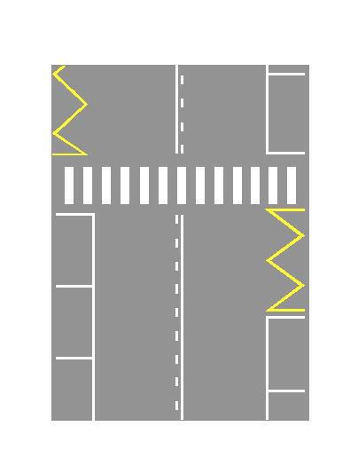 Sipas sinjalistikës në figurë lejohet parakalimi pas vendkalimit të këmbësorëve.