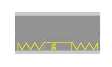 Sinjalistika në figurë kufizon hapësirën e rezervuar për pushimin e autobusëve.