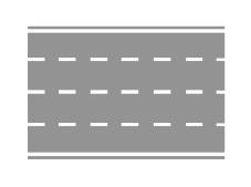 Sinjalistika horizontale e paraqitur në figurë lejon pushimin e mjeteve vetëm në anën e majtë.