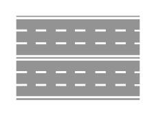 Sinjalistika horizontale e paraqitur në figurë lejon parakalimin e automjeteve edhe në kthesë.