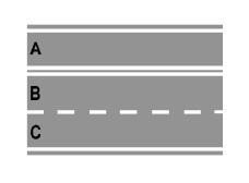 Sinjalistika horizontale, e paraqitur në figurë, ndalon kryerjen e manovrës së ndryshimit të sensit të lëvizjes.
