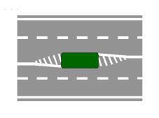 Rruga e paraqitur në figurë ndalon kryerjen e manovrës së ndryshimit të sensit të lëvizjes.