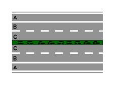 Rruga e paraqitur në figurë ndalon ndryshimin e sensit të lëvizjes.
