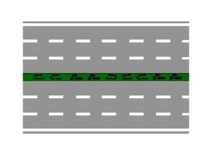 Rruga e paraqitur në figurë mund të jete rrugë interurbane kryesore.