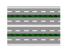 Rruga e paraqitur në figurë është e formuar nga katër karrexhata me një sens lëvizje.
