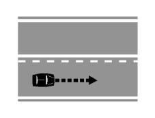 Sinjalistika horizontale e paraqitur në figurë e lejon mjetin të kryejë manovrën e parakalimit edhe duke i kapërcyer të dyja vijat.
