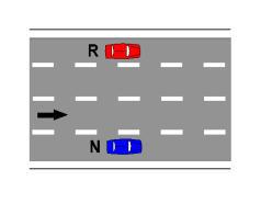 Sinjalistika horizontale e paraqitur në figurë tregon një karrexhatë me dy sense lëvizje.