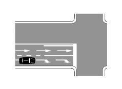 Mjetit të pozicionuar si në figurë i lejohet të kthehet majtas.