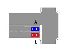 Sipas sinjalistikës në figurë, lejohet të ndryshohet sensi i lëvizjes.