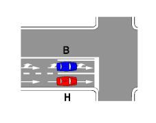 Sipas sinjalistikës në figurë, mjeti H lejohet të kthehet djathtas.