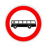 Sinjali në figurë lejon qarkullimin e gjithë mjeteve të tjera, me përjashtim të autobusëve.