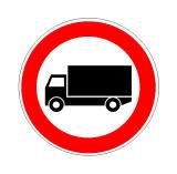 Sinjali në figurë ndalon qarkullimin e një automjeti për transport malli me peshë me ngarkesë të plotë deri në 3.5 tonë.