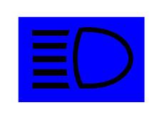 Simboli në figurë bëhet i dukshëm, me ngjyrë blu ne kroskot, kur ndizen fenerët e largësisë.