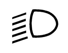 Simboli në figurë bëhet i dukshëm, me ngjyrë jeshile ne kroskot, kur ndizen fenerët joverbues.