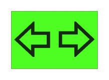 Shigjeta majtas, e simbolit në figurë, bëhet e dukshme në kroskot me ngjyrë jeshile që pulson, kur ndizet sinjali i drejtimit majtas.