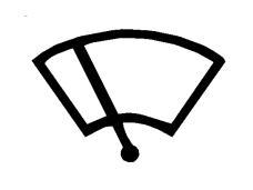 Simboli në figurë vendoset mbi komandën që aktivizon fshirëset e xhamit të përparmë.
