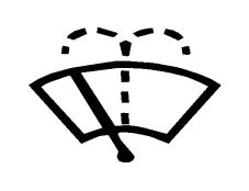 Simboli i paraqitur në figurë vendoset mbi çelësin që komandon fshirjen dhe larjen e xhamit të përparmë.