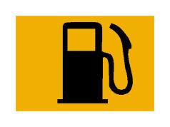 Kur llamba spiune e simbolit në figurë është e ndezur, tregon që mjeti është me rezervën e karburantit.