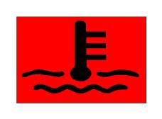 Simboli në figurë bëhet i dukshëm në kroskot, kur temperatura e vajit lubrifikues që qarkullon në motor rritet mbi normën e lejuar.