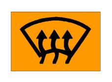 Simboli në figurë bëhet i dukshëm në kroskot kur ventilimi apo ngrohja e xhamit të përparmë janë në funksion.