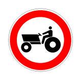 Sinjali në figurë ndalon qarkullimin e makinave bujqësore.