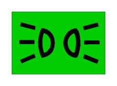 Simboli në figurë bëhet i dukshëm, me dritë jeshile në kroskot, kur janë të ndezura dritat e pozicionit.