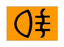 Simboli në figurë bëhet i dukshëm në kroskot kur janë të ndezura dritat e pasme për mjegullën.