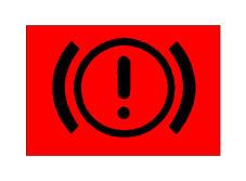 Kur ferrotat e frenave konsumohen më shumë se norma e lejuar, ndizet llamba që bën të dukshëm në kroskot simbolin e paraqitur në figurë.