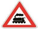 Në prani të sinjalit në figurë duhet të tregojmë kujdes për të shmangur përplasjen me trenin.