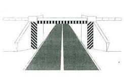 Shiritat e pjerrët bardh e zi, të vendosur në sipërfaqe vertikale, si në figurë, tregojnë se në afërsi ndodhet një kantier pune.