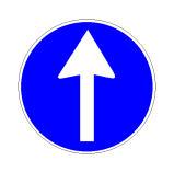 Sinjali në figurë tregon që rruga është me një sens lëvizje.
