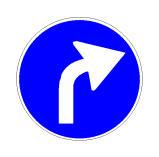 Sinjali në figurë paralajmëron një detyrim për t'u kthyer djathtas.